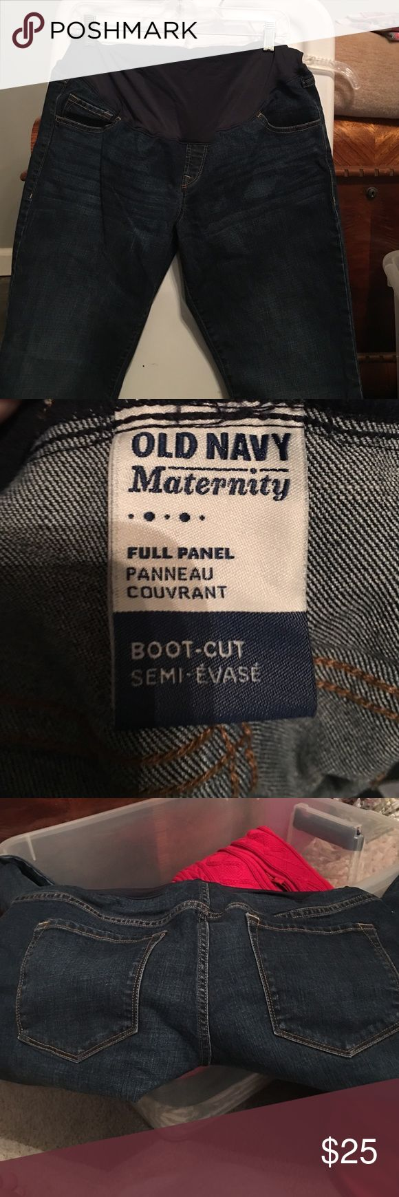 Old Navy boot cut full panel maternity jeans Basic boot cut maternity jeans from Old Navy. Have full belly panel. Worn once Old Navy Jeans Boot Cut