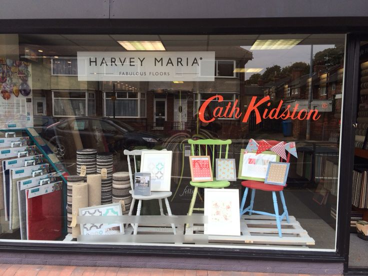 New cath kidston window display concept carpets hull for Laminate flooring displays