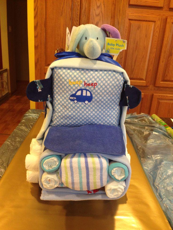 Dump Truck Diaper Cake Babies Pinterest