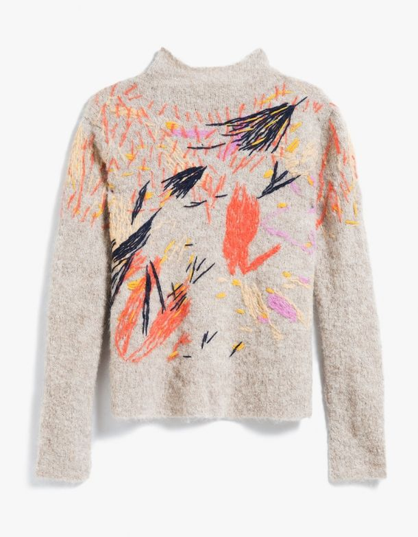 From Rachel Comey, an alpaca blend pullover sweater in Oatmeal Multi. High-neck…