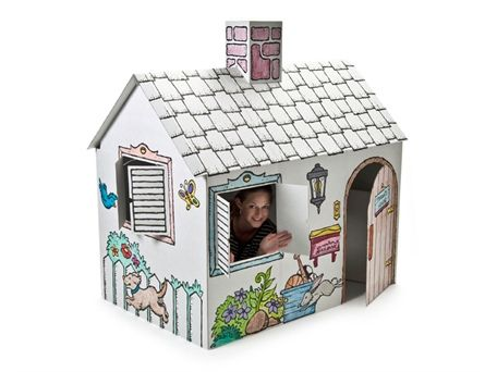 Awesome Cardboard Houses For Kids By Little Play Spaces | Kidsomania