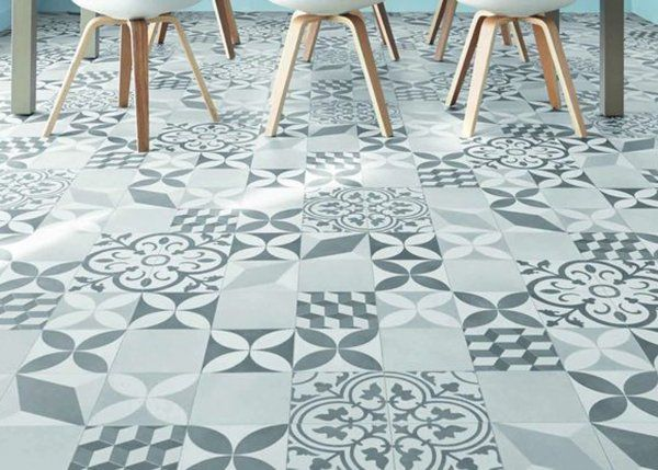 Le vinyle effet carreaux de ciment / Home / Cement tiles dining room / Beautiful Floors