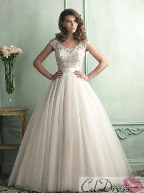 wedding dresses with sleeves... LOVE IT!! Modest and it doesn't look super mormony