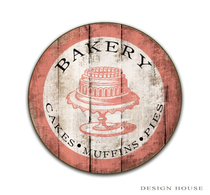 """Bakery wooden sign 12""""x12""""x3/4 Personalized Bakery sign custom Bakery signs Business signs round sign custom business signs custom cafe sign by DesignHouseDecor on Etsy https://www.etsy.com/listing/473723506/bakery-wooden-sign-12x12x34-personalized"""