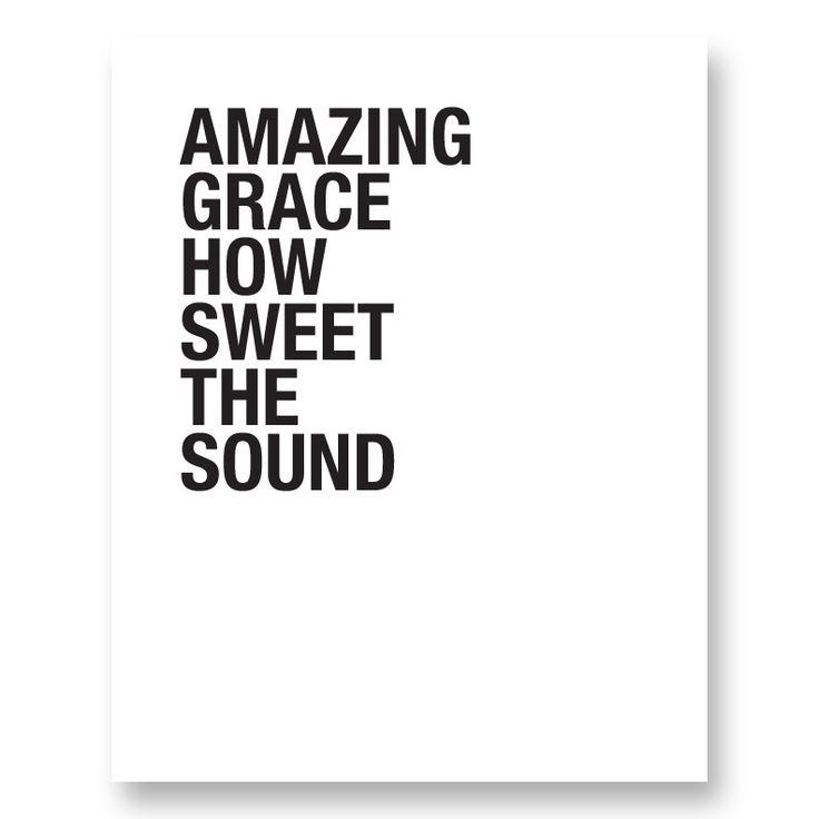 "Image of ""Amazing Grace..."" Digital Print (White)"