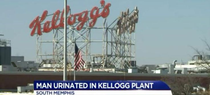 #Kellogg's In Serious Trouble After Video Of Man Peeing On Kellogg's Conveyor Belt Goes Viral