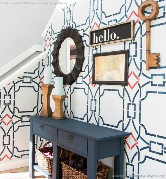 Modern Wall Stencils & DIY Floor Stencils for Painting   Royal Design Studio