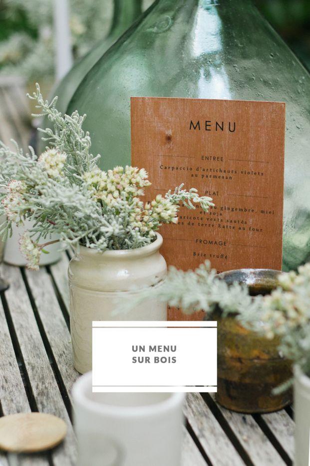 Les 25 meilleures id es concernant menu de mariage sur for Idee menu original