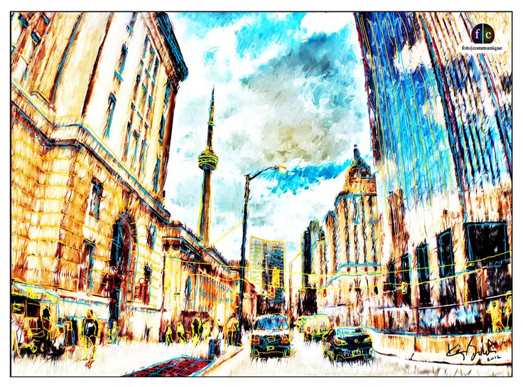 "Front St. Toronto, a fine art painting print. These lyrics come to mind... ""When you're alone and life is making you lonely, you can always go downtown…."""