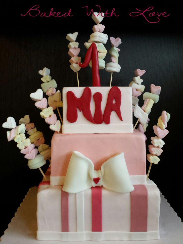 pink marshmallow cake #BakedWithLove Federica Santimaria