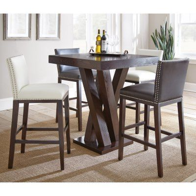 Steve Silver 5-Piece Pub Table Set White - SSC2447-3, Durable