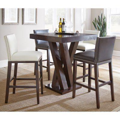 Steve Silver 5-Piece Pub Table Set White - SSC2447-3, Durable