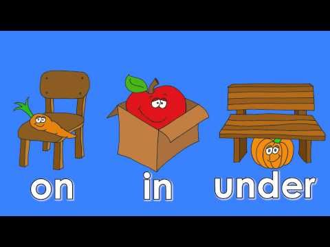 Where is it? Cute video for prepositions of position (place)