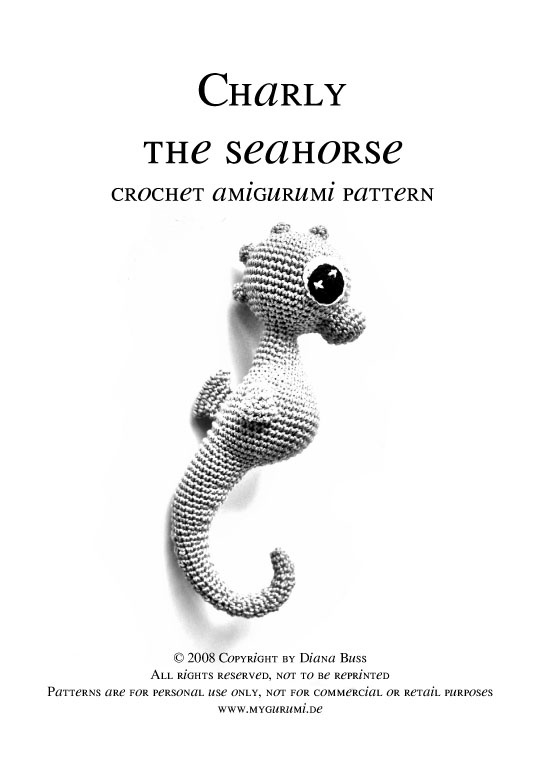 Crochet Amigurumi Seahorse Free Pattern : 148 best images about Crochet Sea Creatures on Pinterest ...
