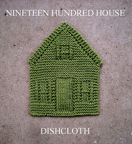 Free knitting pattern on ravelry for house shaped dish cloth http://www.ravelry.com/patterns/library/nineteen-hundred-house-dishcloth