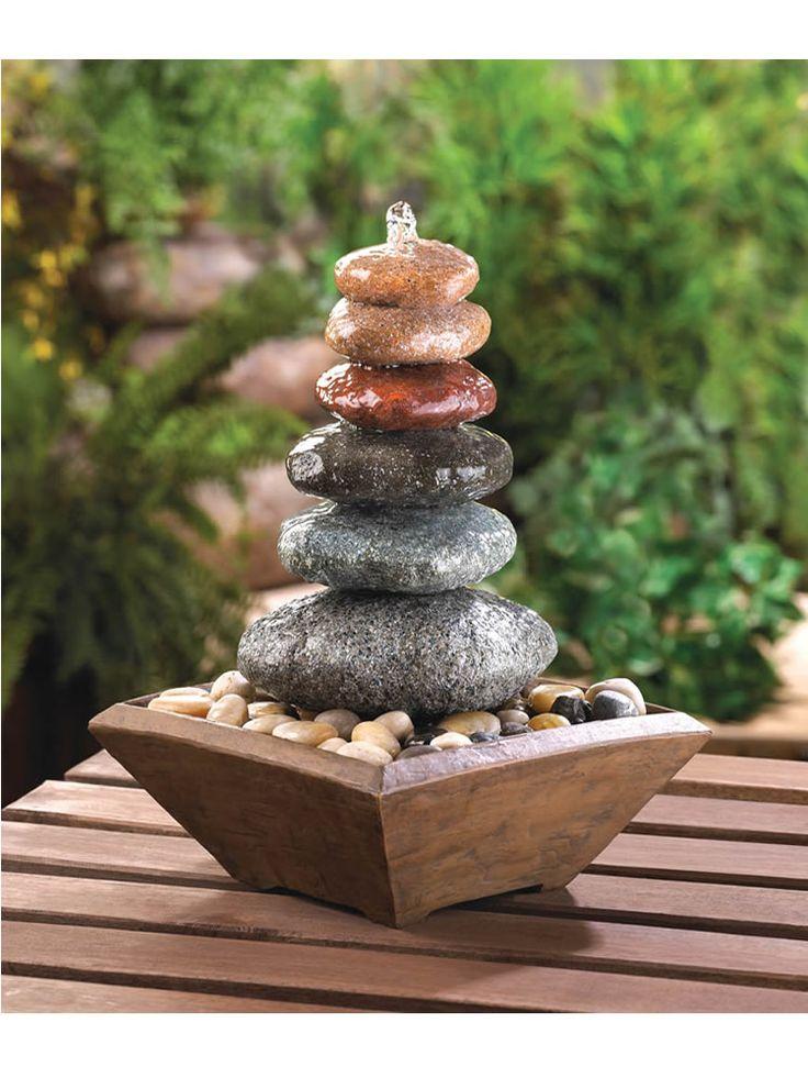 Balancing Stones Tabletop Fountain 15 best indoor