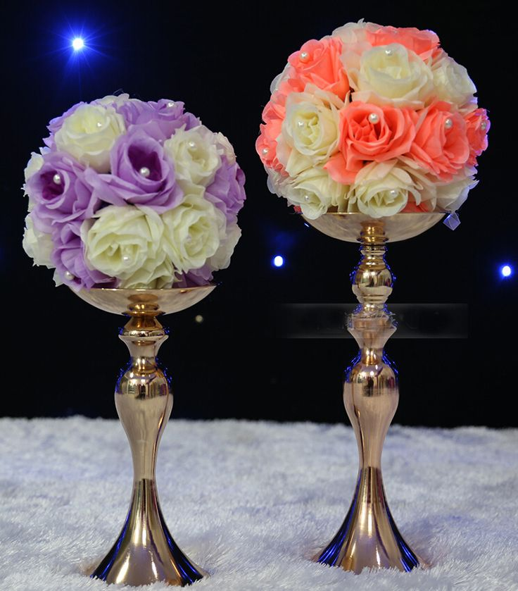 ==> [Free Shipping] Buy Best 36cm high wedding kissing ball stick European classical silvery candle stick/ wrought iron candle sticks Online with LOWEST Price   32404577357