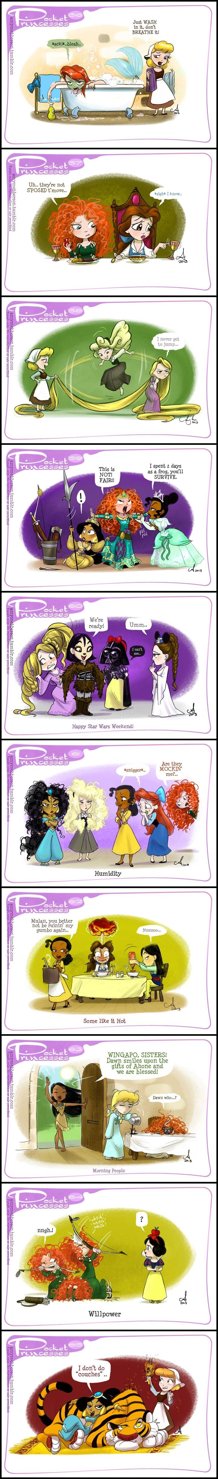 Pocket Princesses (Part 6) by Amy Mebberson - I am in love with the Pocket Princesses! I always laugh at their antics and would love to read more!
