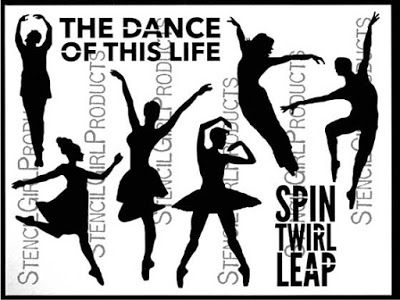 The Dance of This Life stencil by Carolyn Dube for StencilGirl