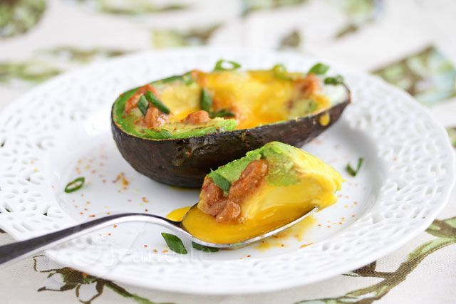Baked Avocado and Egg with Miso Butter  via http://jeanetteshealthyliving.com