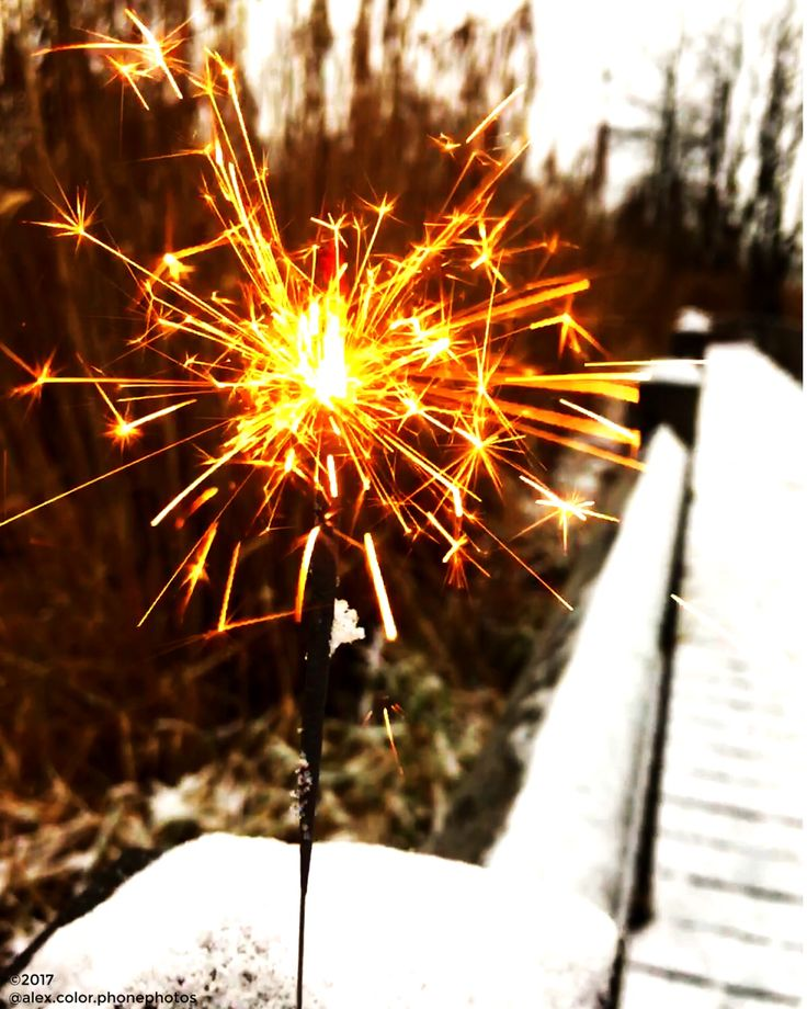 Sparkler, Fireworks