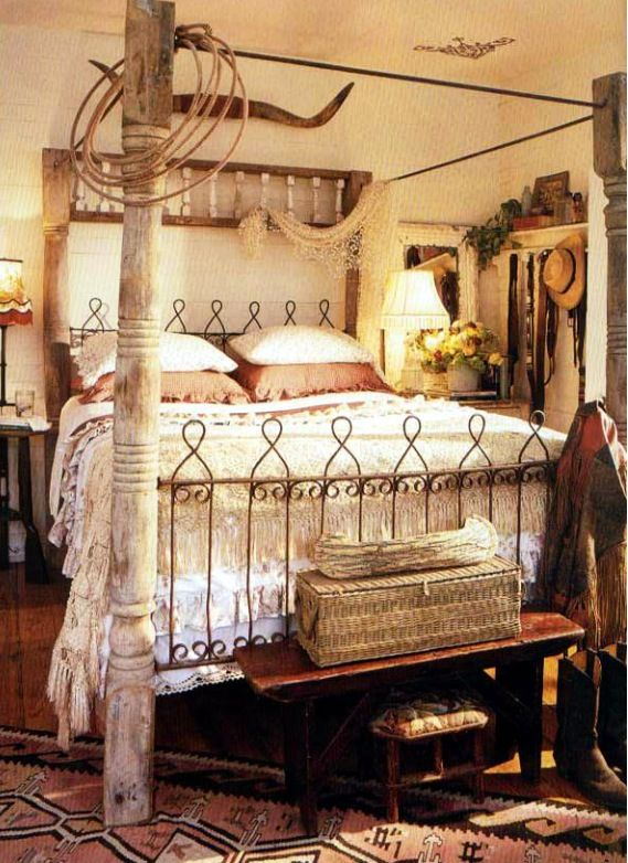 handmade salvage bed // cowgirl style // the outpost, round top, Texas