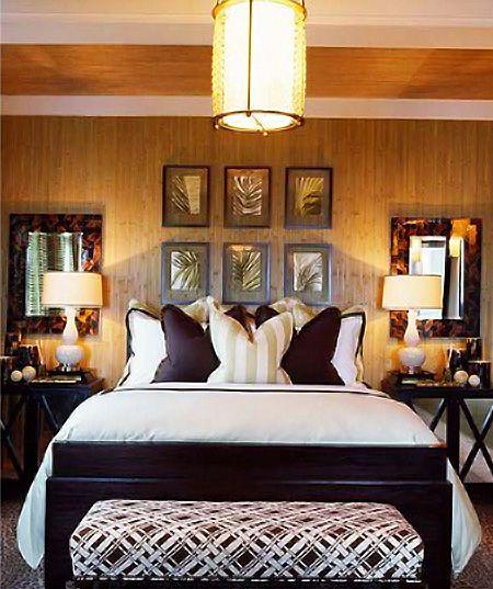 Bedroom: Mirror, Interior, Bench, Guest Bedroom, Barclay Butera, Master Bedroom, Place