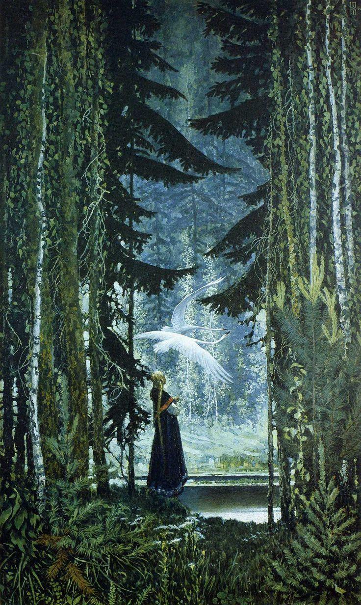 fleurdulys:The Magic Swan Geese - Konstantin Vasilyev