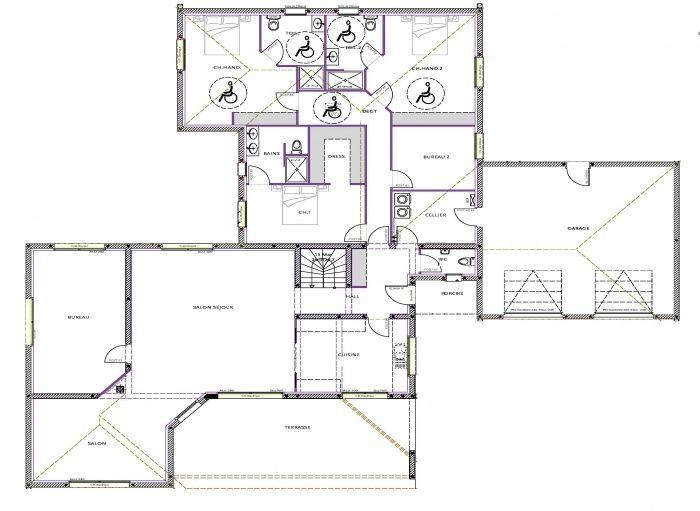 plan maison moderne sud ouest
