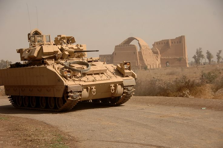 U.S. Army Bradley Fighting Vehicle   File:Bradley Fighting Vehicle provides security for clearing operation ...
