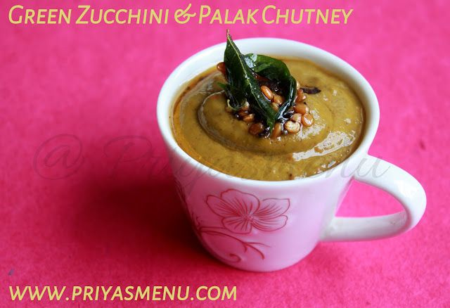 This delicious chutney is prepared using green Zucchini and Palak / Spinach and can be served with Idly or Dosa. The addition of horse g...