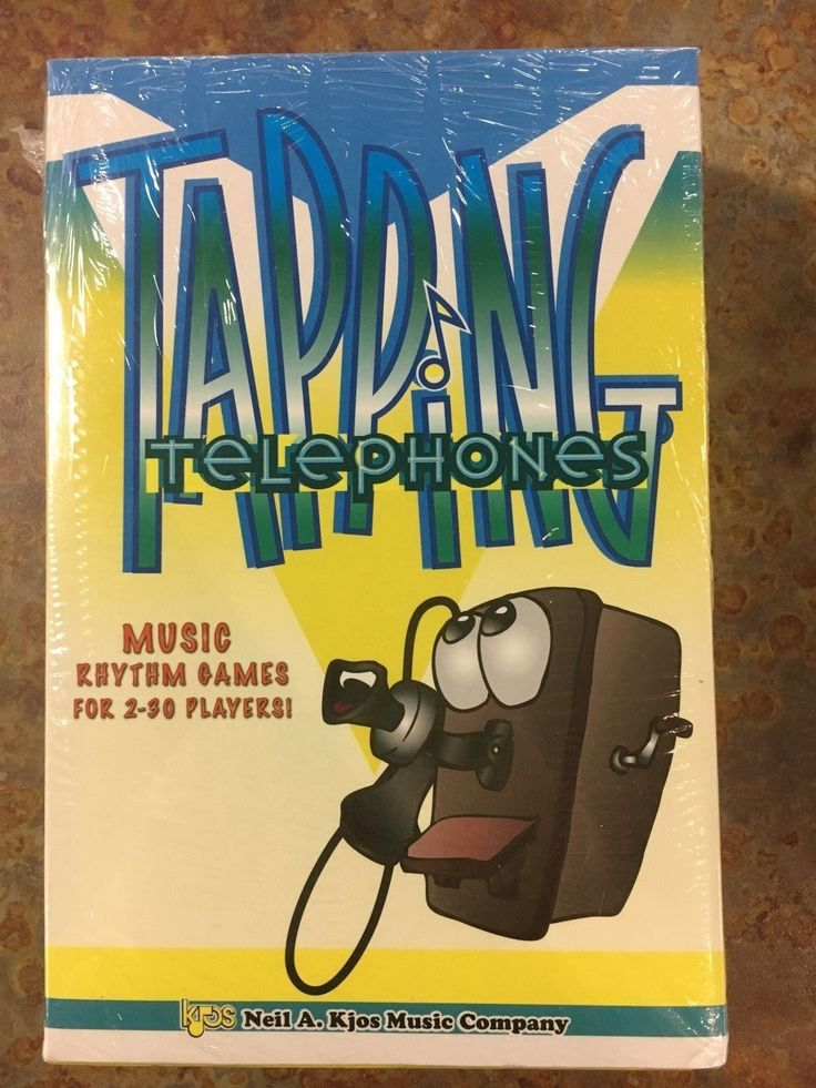 Tapping Telephones Music Rhythm Games for 2-30 Players Sealed in Box