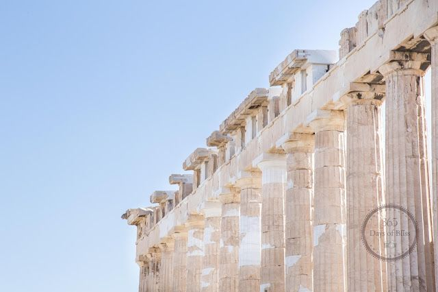 365 days of bliss  The Parthenon in Athens.  #blue #marble #antiquity #beauty #simplicity #sky #light