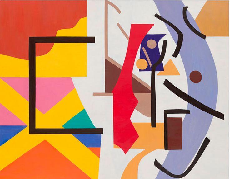 Shirley Jaffe (USA b. 1923) new work Horizontal Black (2015) oil on canvas 114 x 146 cm http://www.tibordenagy.com/