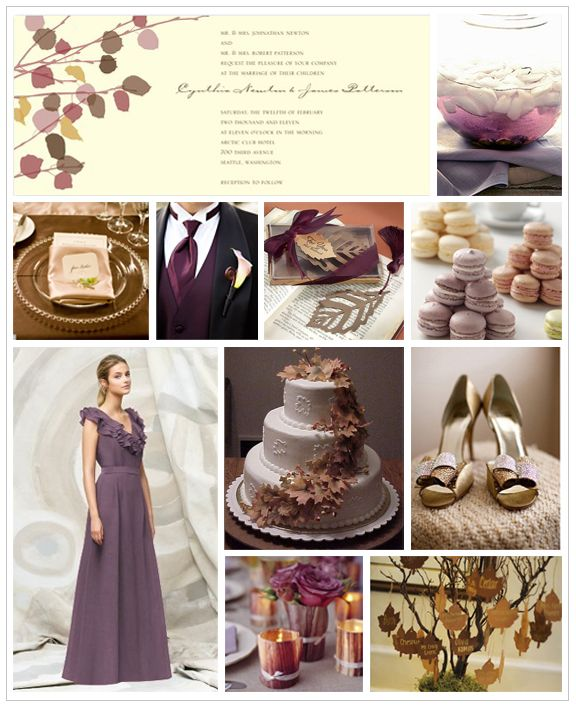 Eggplant And Red And Purple Wedding Ideas: Mauve Wedding Inspiration Board
