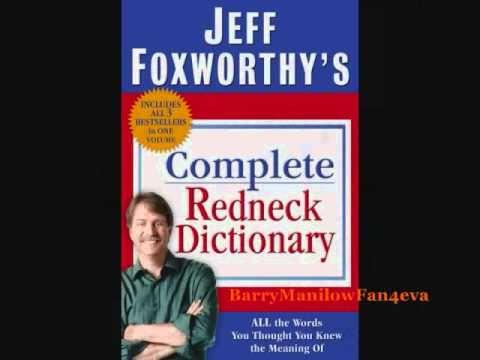 jeff foxworthy redneck dictionary words