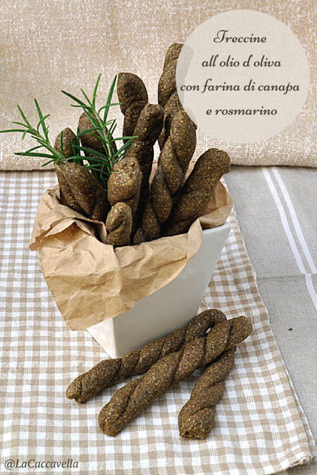 treccine all'olio d'oliva con farina di canapa