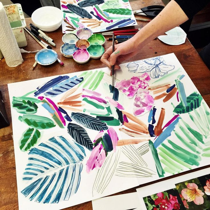 abstract tropical elements for our newest textile designs / longina phillips designs.