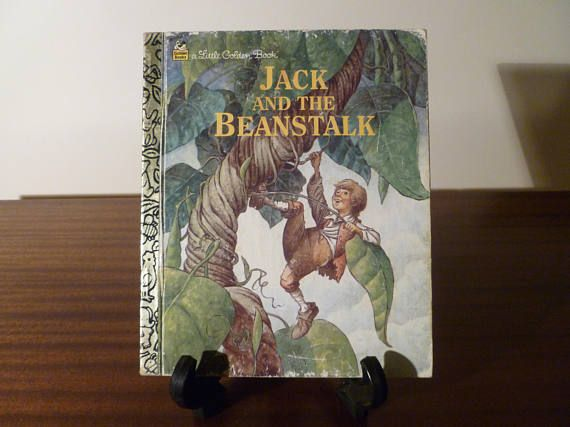 "Vintage 1992 Book ""Jack and the Beanstalk"" - A little Golden Book / Kids Book / Great Condition / Jack and the Giant"