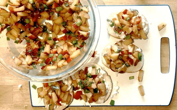 Holiday Plum Bruschetta Recipe