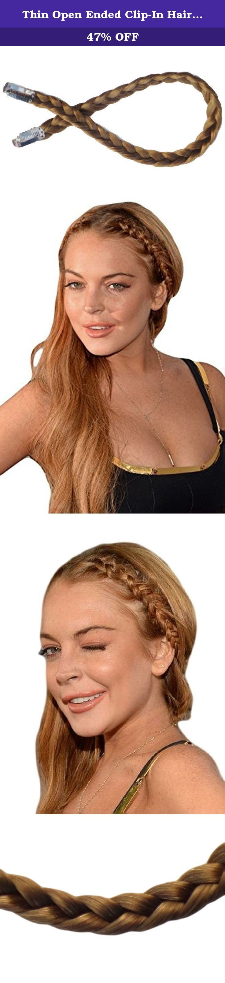 Thin Open Ended Clip-In Hair Braid In Warm Blonde Auburn Colour Synthetic. Following on from the Chunky Braid we now introduce the open ended Thin Braid, this wonderful product has two open ended clasps so you can create your own styles. Try styling it backwards for a unique take on a Fantasy style or go forwards for a more traditional look. As its open ended it gives you the possibility to mess around and play with dozens of different trends. It's versatile and can be easily be blended…