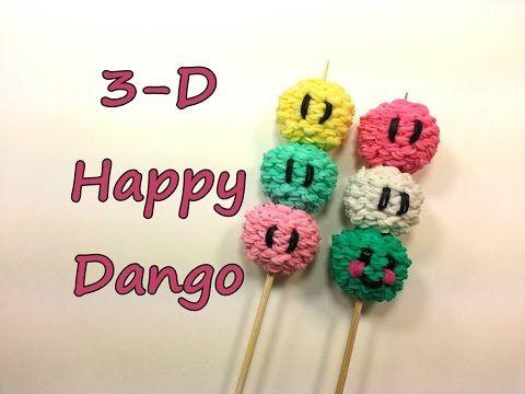 3-D Happy Dango Tutorial by feelinspiffy (Rainbow Loom) - YouTube