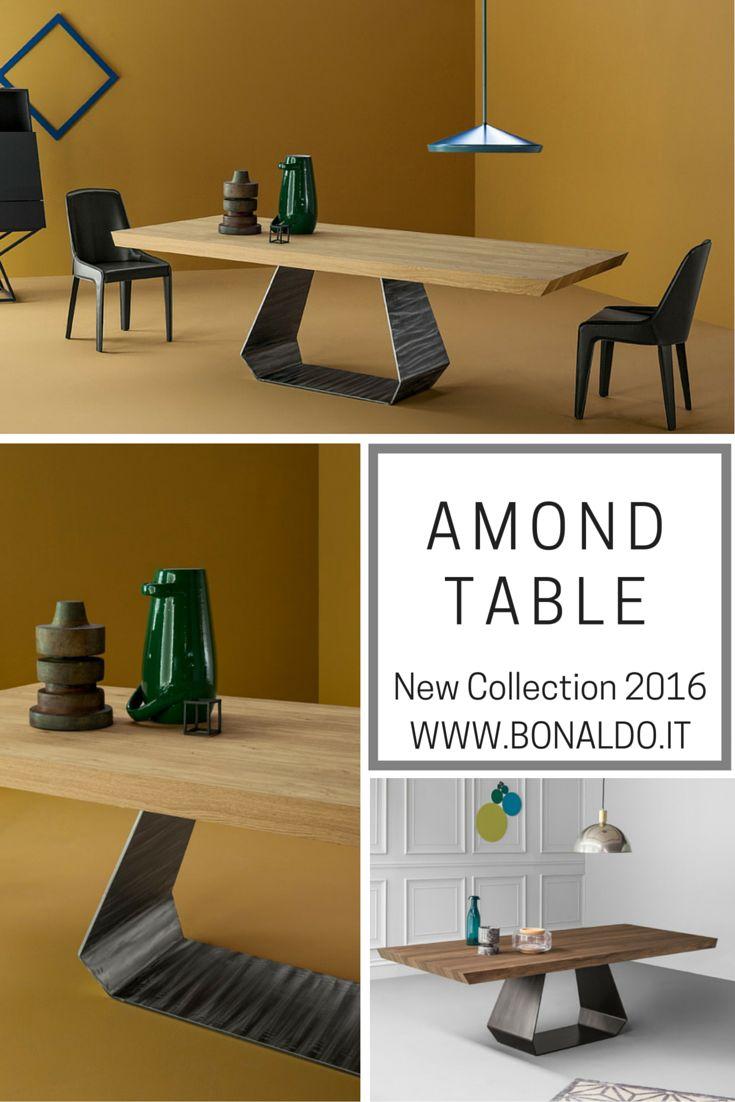 Amond Table design Gino Carollo #wood #metal #aluminium #interior #design