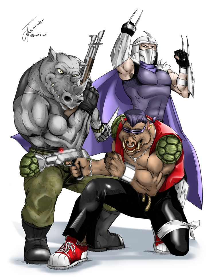 Shredder, Bebop and Rocksteady by Albert217.deviantart.com on @deviantART