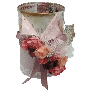 Vintage Accessory Tin - Pink-   VACCPIN