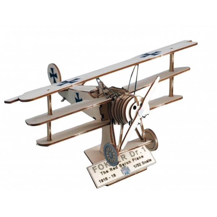 houten vliegtuig speelgoed - Fokker