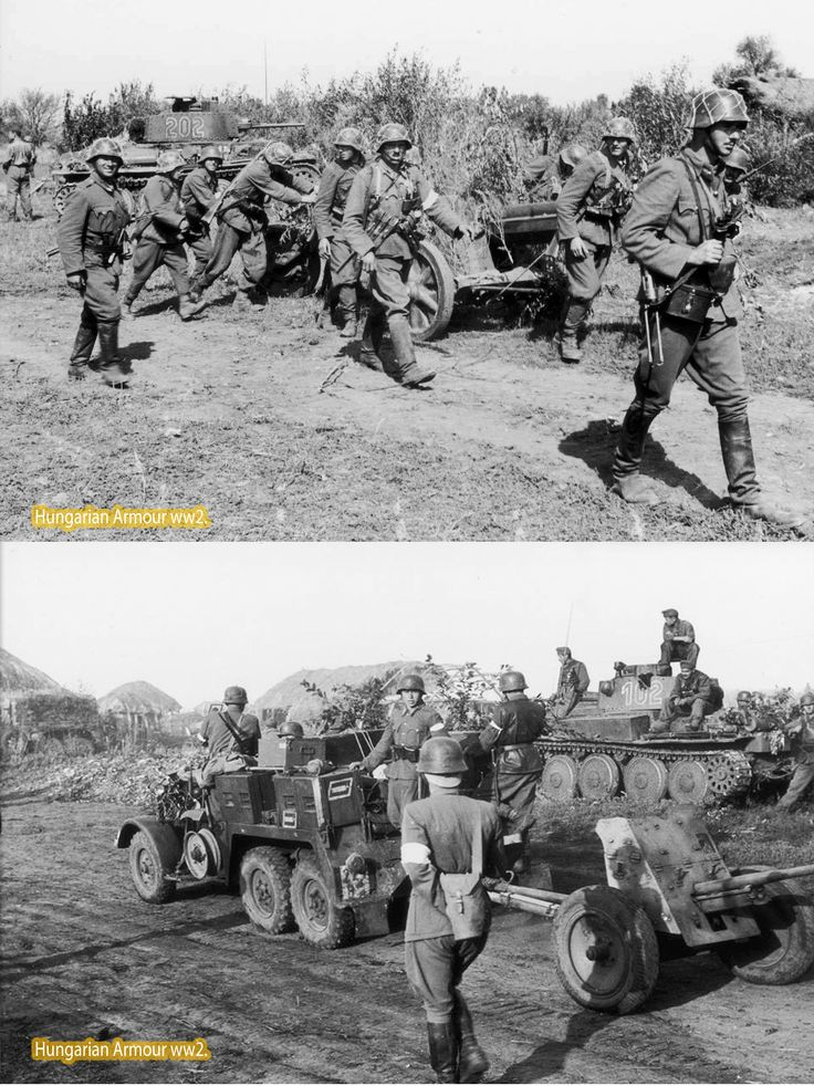 Hungarian infantry summer in 1942. russia. Behind of soldiers is Hungarian Pz38t. turret number is 202, another is 102. Both panzer is the 30.tank battalion's panzers.