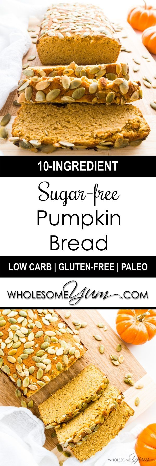 free Pumpkin Bread (Low Carb, Paleo) - This ultra moist pumpkin bread ...
