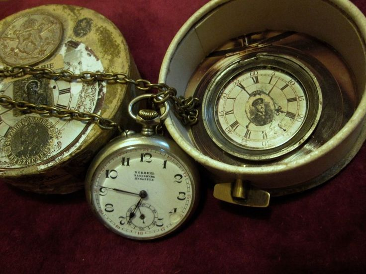 RARE ANTIQUE MILITARY POCKET WATCH DUNAVETS MECHANISM DOMINA