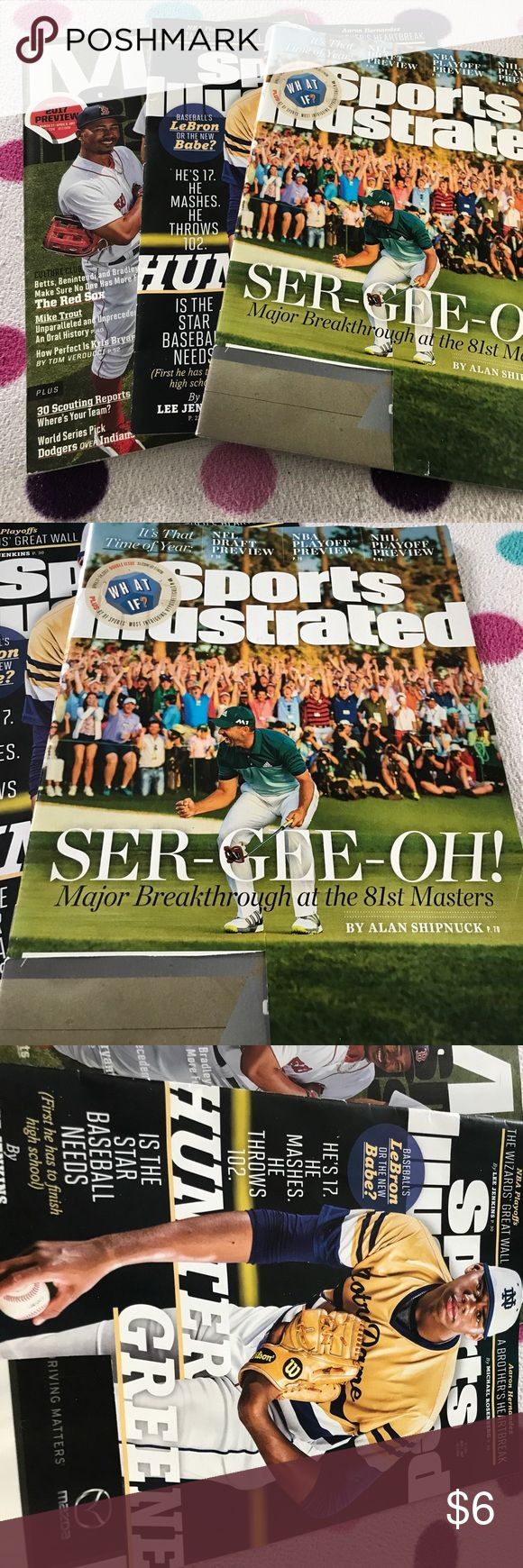 Three issues of Sports Illustrated All are in perfect intact condition aside from address labels being cut of front covers.  🌼Thank you for looking!  🌼I ship within 2 days shipping excluding holidays 🌼I do not trade! 🌼I only accept offers through the offer button! 🌼Thank you for shopping and feel free to ask any questions! Accessories